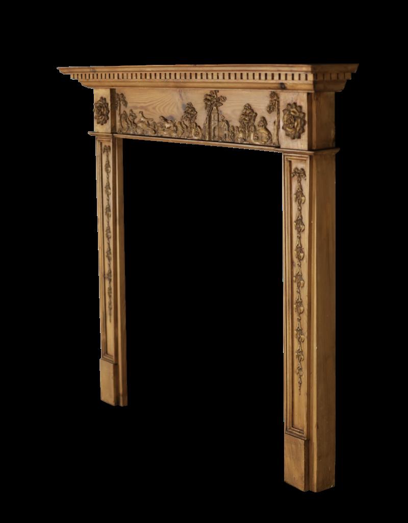 The Antique Fireplace Bank Feine Englische Kamin im Kieferholz