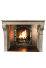 Elegante französische Kalkstein-Kaminverkleidung