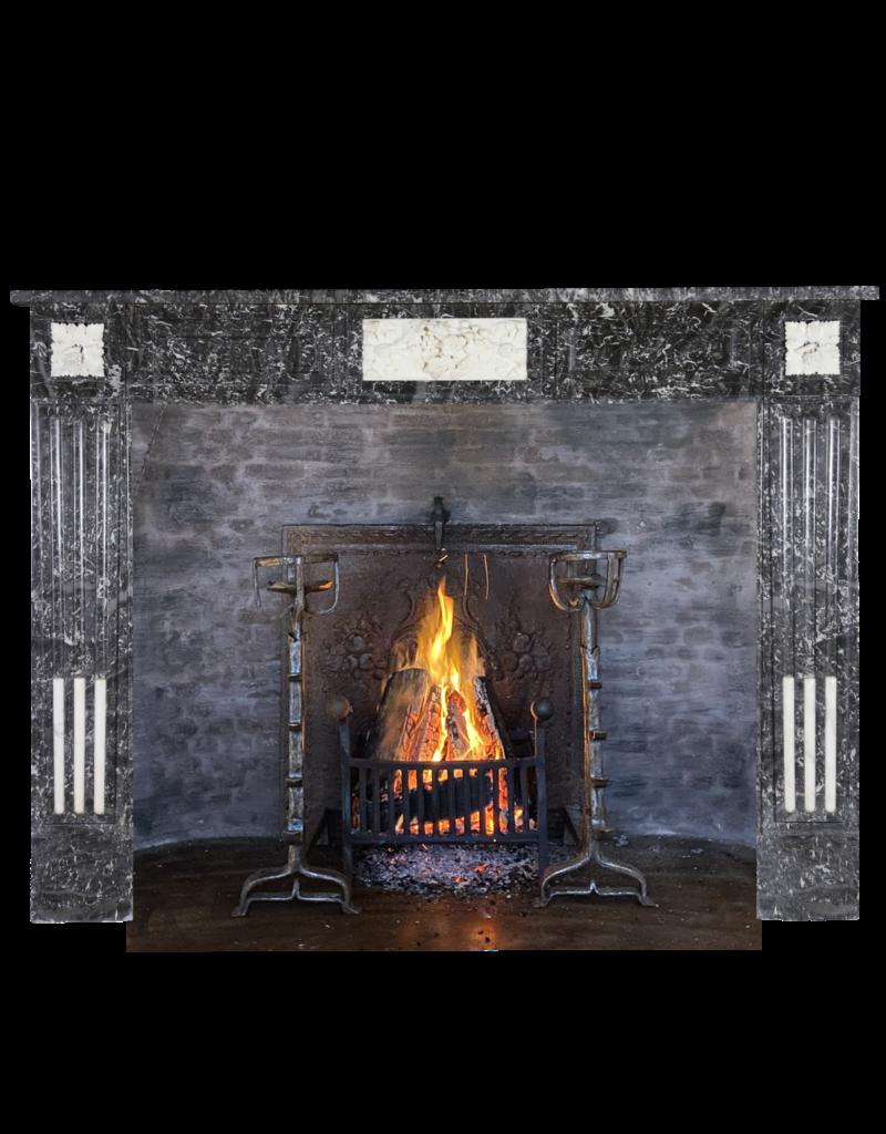 Elegant Belgian Marble Fireplace