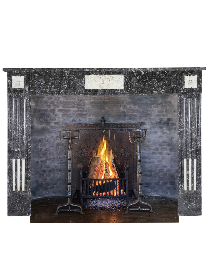 The Antique Fireplace Bank Eleganter belgischer Marmorkamin