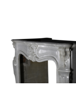 Classic Regency Style White Marble Fireplace