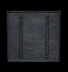 Maison Leon Van den Bogaert Antique Fireplaces & Vintage Architectural Elements Blacked Cast Iron Fire-Back