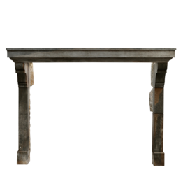 The Antique Fireplace Bank Grand Bicolor Antique Stone Fireplace