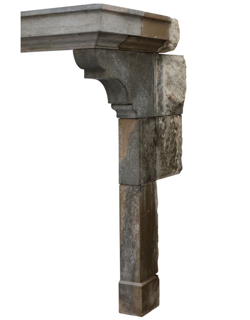 Maison Leon Van den Bogaert Antique Fireplaces & Vintage Architectural Elements Gran Y Elegante Chimenea De Piedra Bicolor
