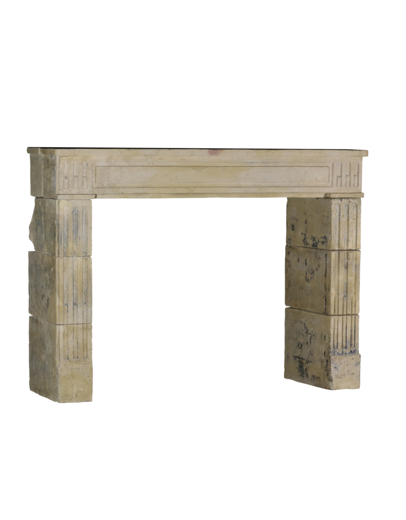 Classic And Rustic Limestone Fireplace Surround