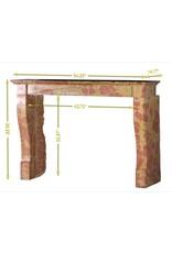 The Antique Fireplace Bank Zeitloser zweifarbiger Steinkamin
