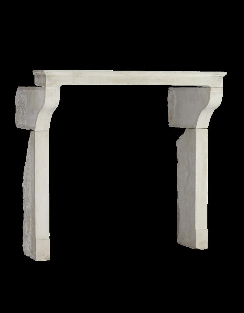 The Antique Fireplace Bank Eleganter Grand White Limestone Kamin