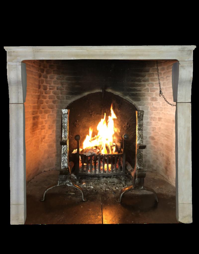 The Antique Fireplace Bank Elegant Grand White Limestone Fireplace