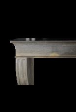 Grand Bicolor Französisch Kalkstein Kamin