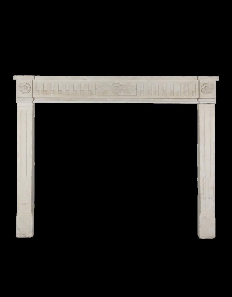 Elegant French Limestone Fireplace Surround