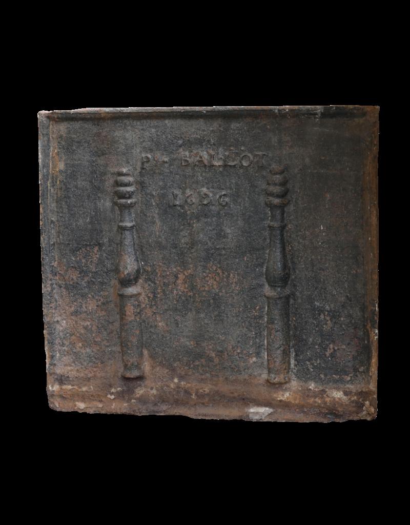 The Antique Fireplace Bank Antique Cast Iron Fire-Back