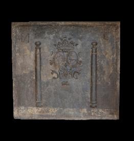 The Antique Fireplace Bank Respaldo Antiguo De Hierro Fundido