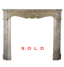Small French Classic Marble Fireplace Surround