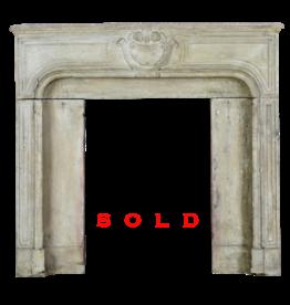 Small French Limestone Fireplace Surround