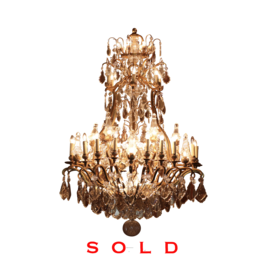 The Antique Fireplace Bank Important Bicolor Crystal Chandelier