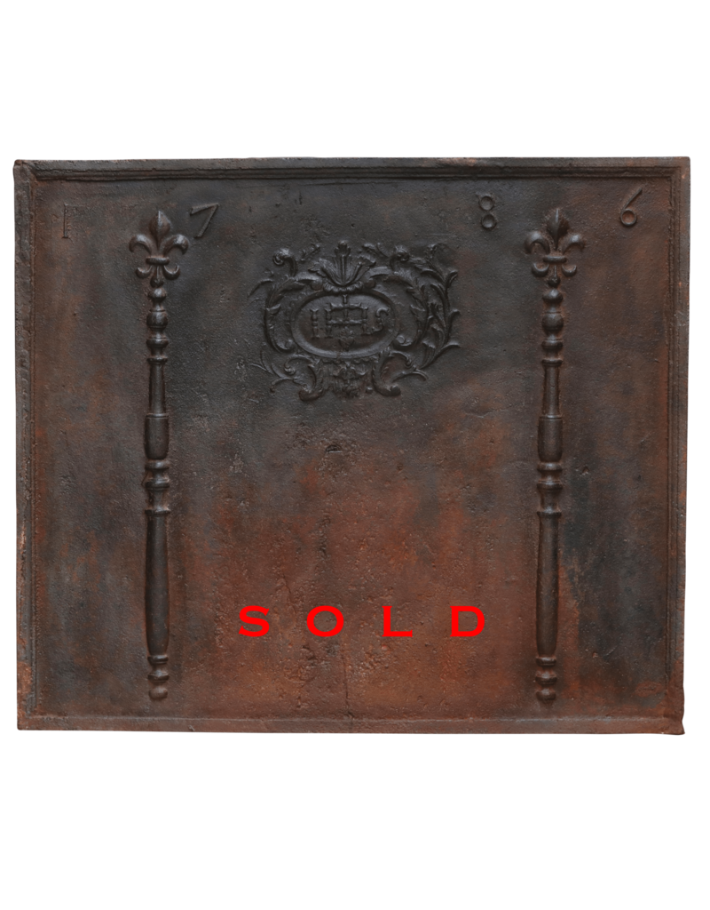 The Antique Fireplace Bank Feuerplatte aus dem 18. Jahrhundert