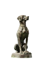 The Antique Fireplace Bank Elegant Pair Of Hunting Hounds in Brass