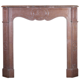 Small Classic French Marble Stone Fireplace Mantle