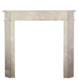 Small French Marble Stone Fireplace Mantle