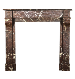 Small Classic Antique European Marble Fireplace Mantle