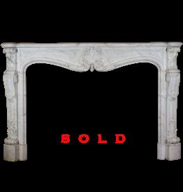 Maison Leon Van den Bogaert Antique Fireplaces & Vintage Architectural Elements 19. Jahrhundert Groß Französisch Marmor Kamin Maske