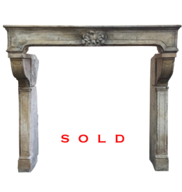 The Antique Fireplace Bank Grand French Vintage Stone Fireplace Surround