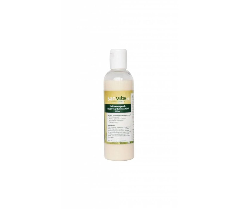 Paardenmelk lotion voor baby en kind