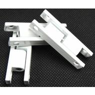Aluminiumscharnier standard in weiß, braun und anthrazit grau RAL7016