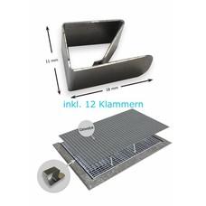 3er- Sparset Lichtschachtabdeckung Edelstahlgewebe o. Alugewebe 80 x 150 cm LSA Kellerschachtabdeckung als Laubschutz aus Edelstahl oder Alu