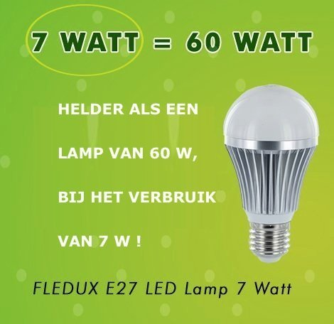 FLEDUX E27 7WATT