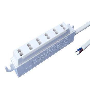 Mini AMP verdeler 6 spots (female) + 10CM bekabeling