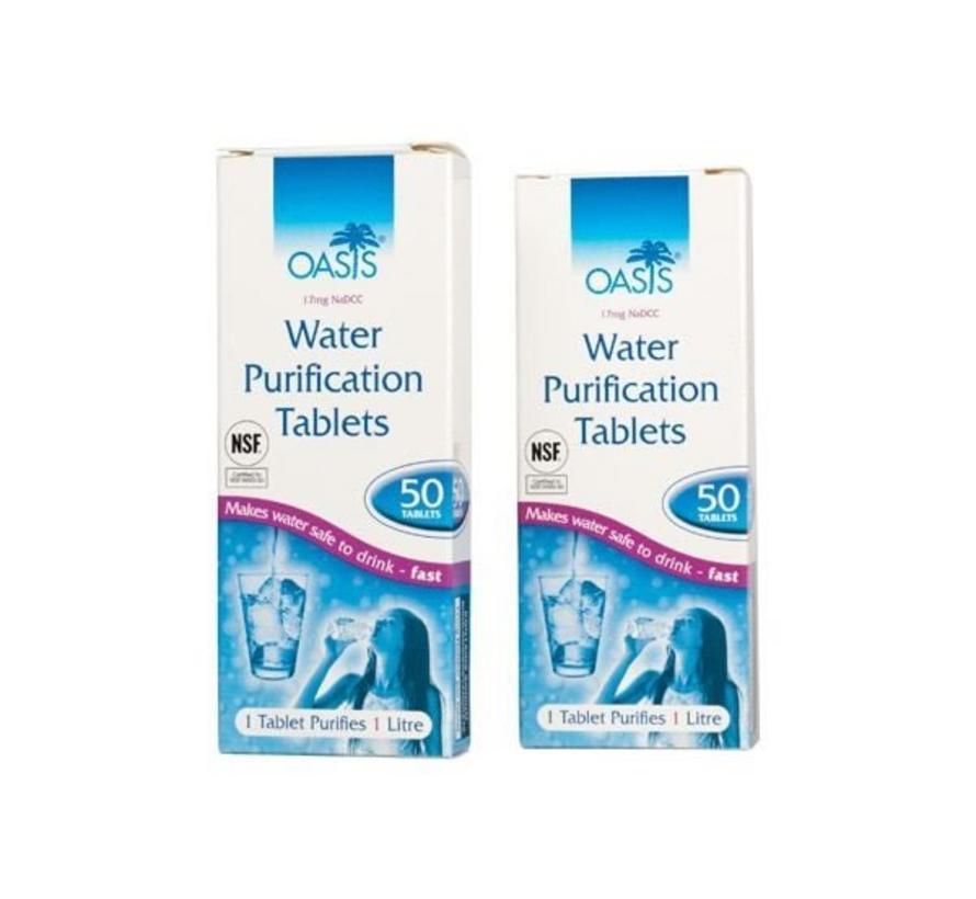 Oasis - Waterzuiveringstabletten 2 doosjes  - Doodt bacteriën