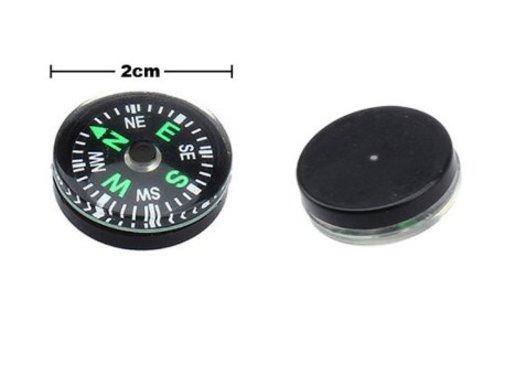BonQ BonQ Mini Kompas - Zwart - 2 cm