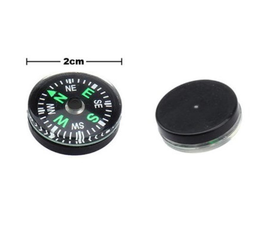 BonQ Mini Kompas - Zwart - 2 cm