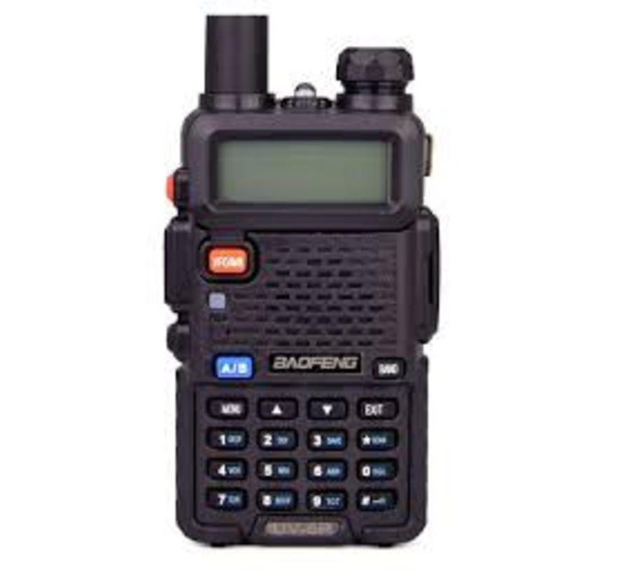 Baofeng UV-5R Radio - Black - Incl Charger - 5W