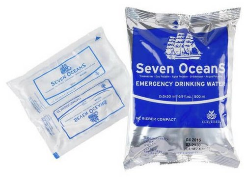 GC Rieber Compact Seven Oceans Drinking Water Ration - 500ml