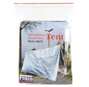 Fosco Fosco Emergency Tent - Zilver - 243x152cm