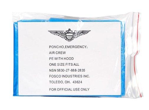 Fosco Fosco Emergency Poncho - Transparant Blauw - One Size Fits All