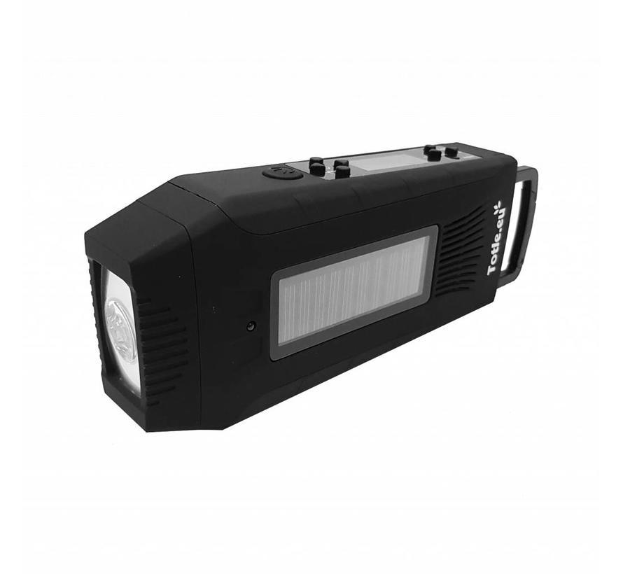 Totle Emergency Radio Multi Survival - 2000mAh + Battery - SOS Function - Wind-up