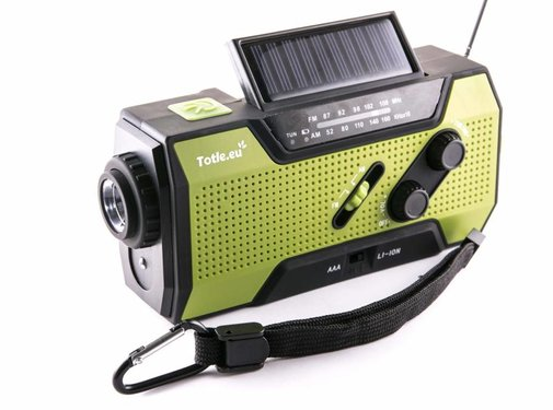 Totle Totle Ultimate Emergency Radio - 2000mAh + Battery - Reading Lamp - Wind-up