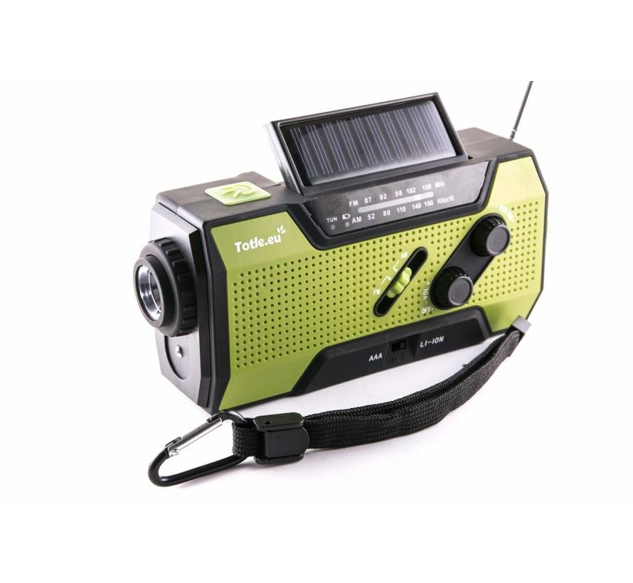 Totle Ultimate Emergency Radio - 2000mAh + Battery - Reading Lamp - Wind-up