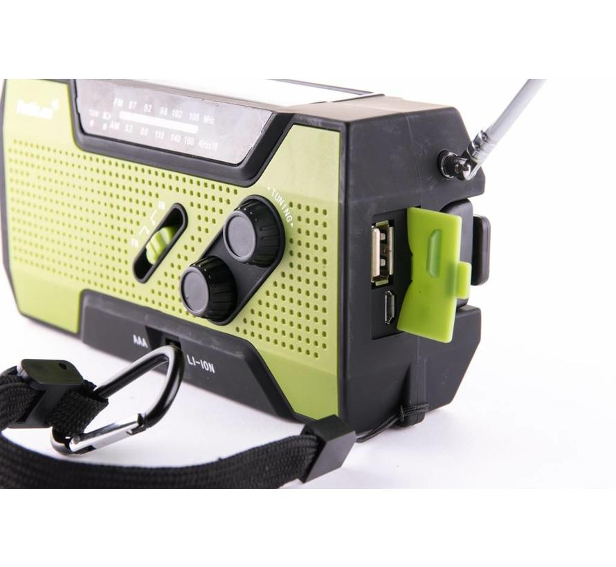 Totle Ultimate Emergency Radio - 2000mAh + Battery - Reading Lamp - Wind-up