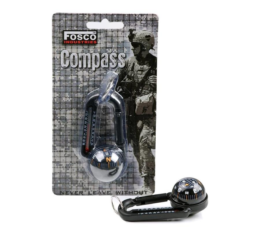 Fosco Compass - Carabiner - Thermometer
