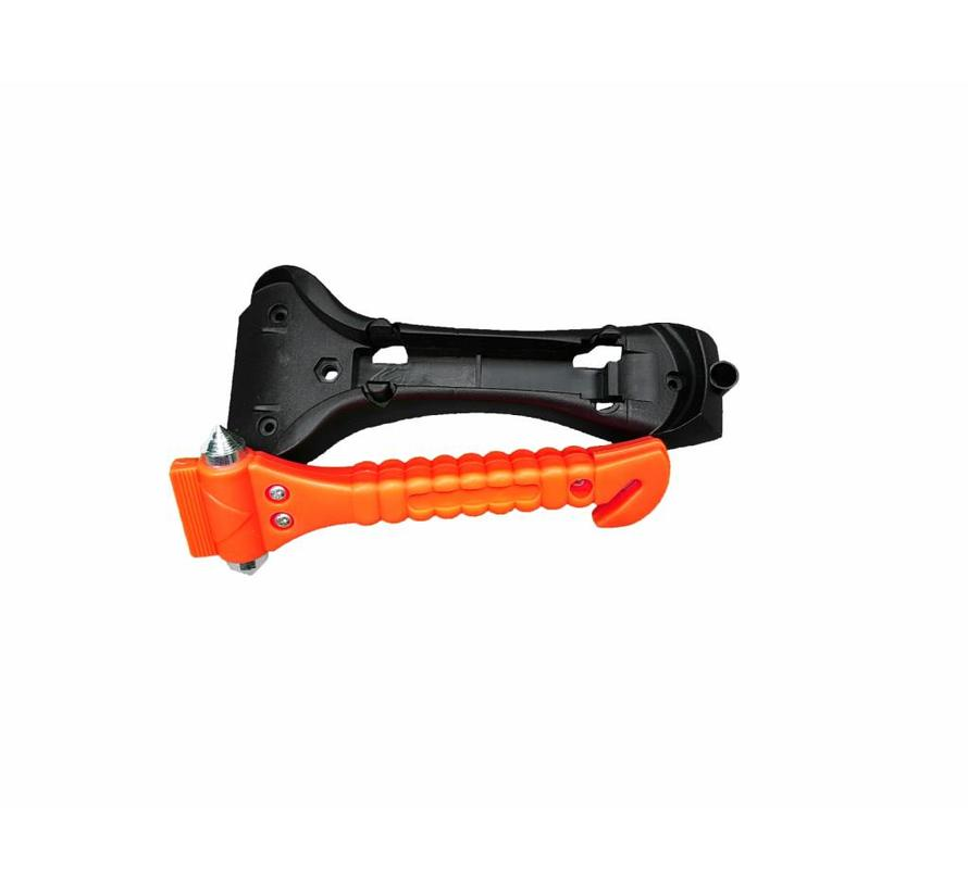 BonQ Emergency Hammer - Orange - Belt Cutter - Incl Attachment