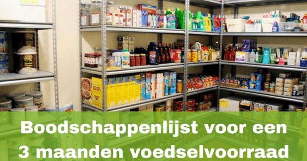 Voedselvoorraad Boodschappenlijst (3 Maanden)