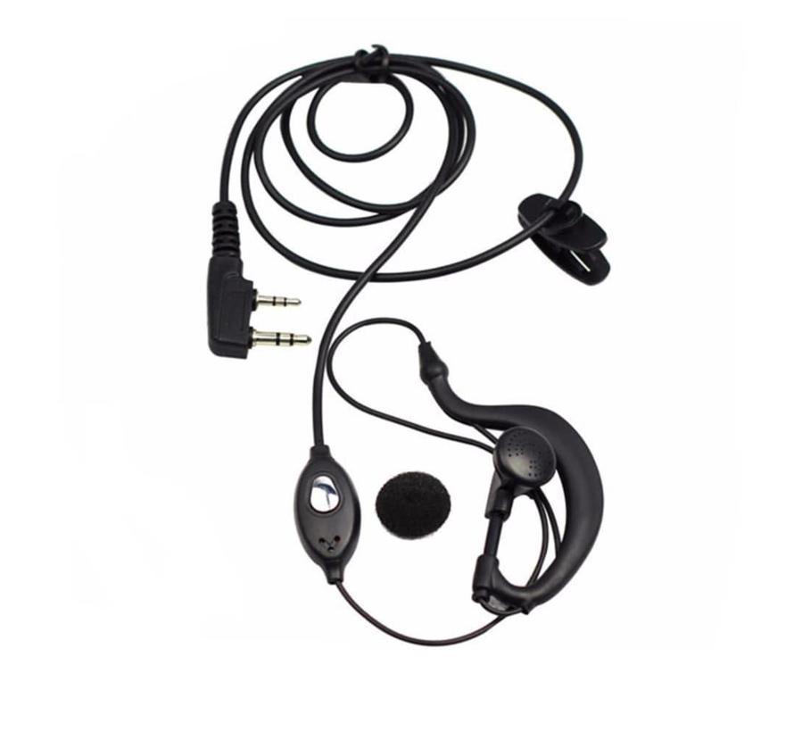 Baofeng Portofoon Headset - 1 Ear - Push To Talk