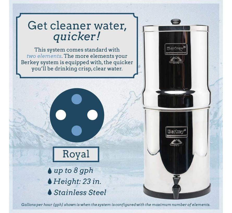 Berkey Royal Water Filter - Up to 26.5 liters per hour