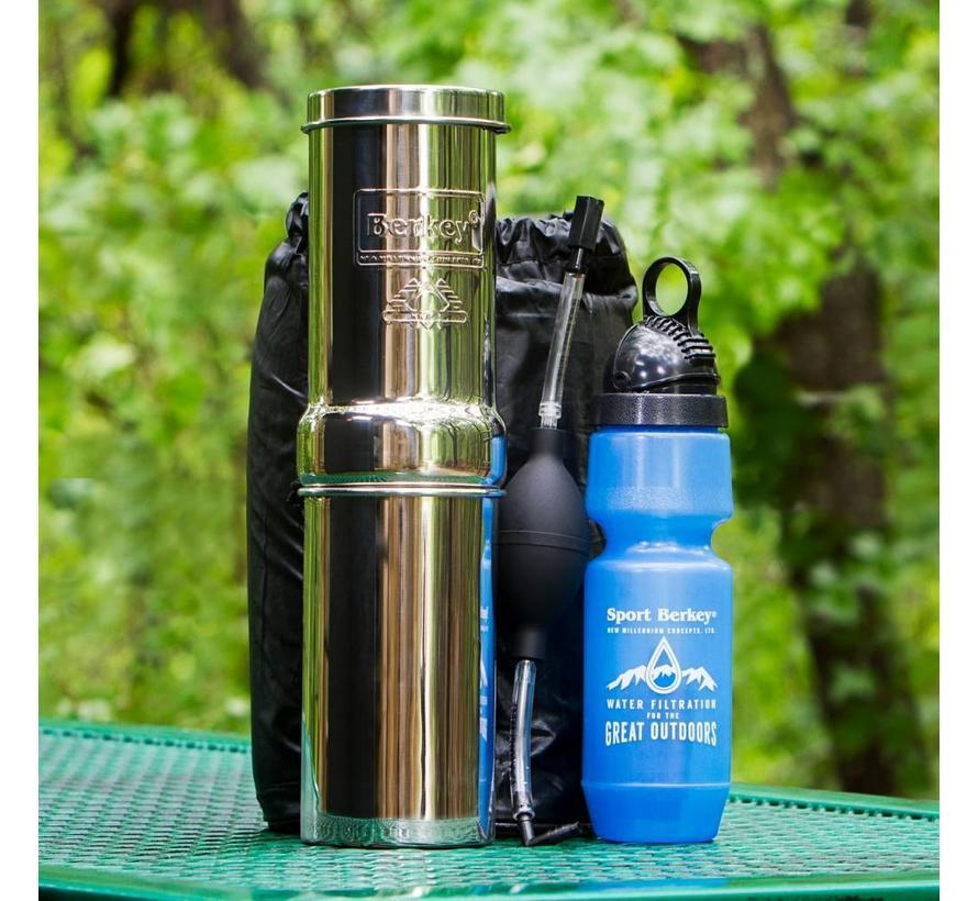 Berkey Go Kit Water Filter - For Travel - 3.8 liters per hour