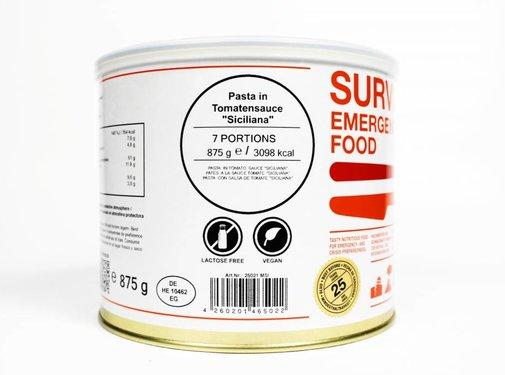 MSI Survivor Food - Pasta in tomatensaus - 25 jaar houdbaar