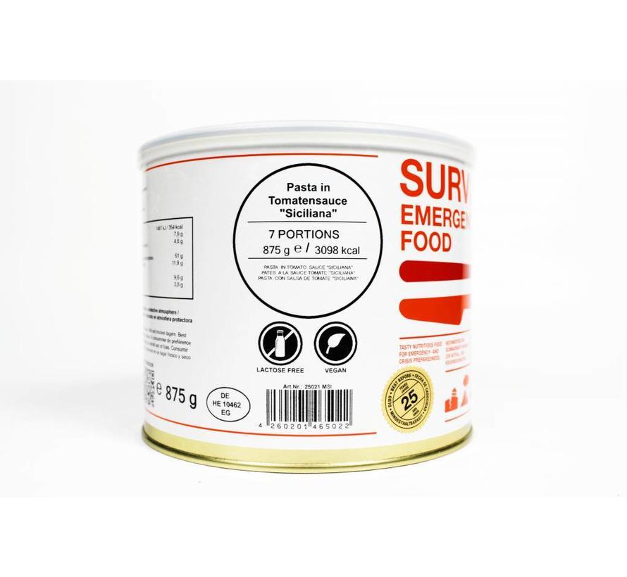 MSI - Survivor Food - Pasta in tomatensaus - 25 jaar houdbaar